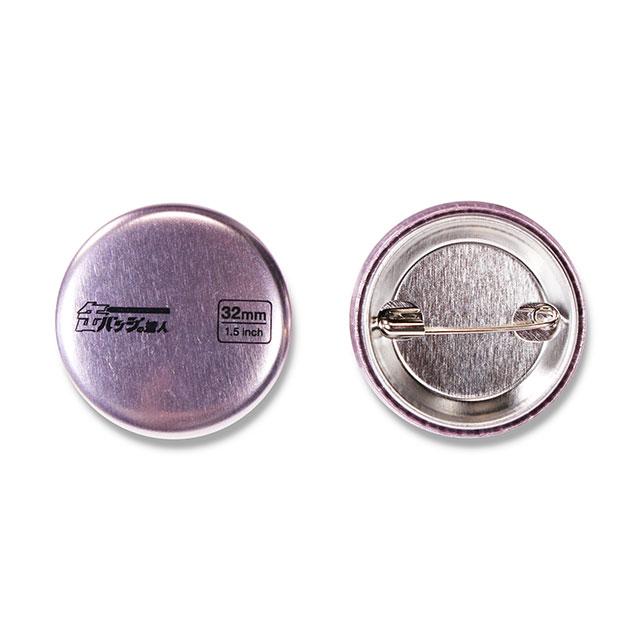 メタリック缶バッジ1000個以上