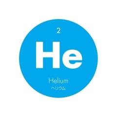 元素記号缶バッジ2【He ヘリウム】