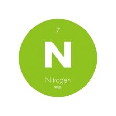 元素記号缶バッジ7【N 窒素】