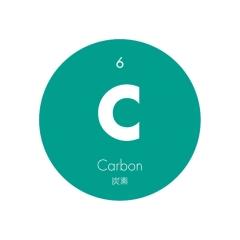 元素記号缶バッジ6【C 炭素】