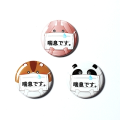 アピール缶バッジ【喘息】3個1セット